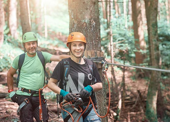 Conferences and Team Building zip lines in the woods