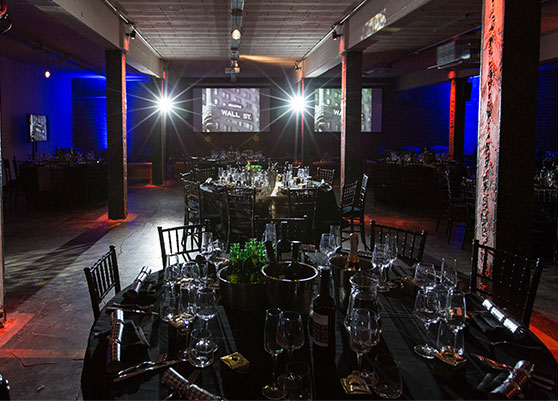 Event Design with tables and chairs